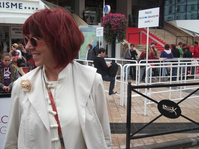 Mercedes Farriols en el Festival Cannes