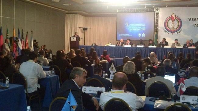 Claudio Poggi en la Asamblea General Extraordinaria