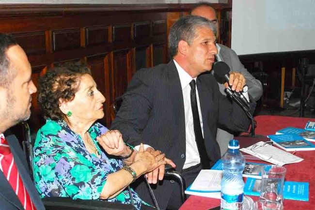 "Gobernador de San Luis Claudio Poggi y Hermela ""Memé"" Gil de Páez"