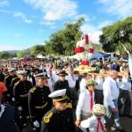 Banderas argentinas y fieles