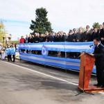 Palco oficial y palabras del Ministro de Educación Eduardo Sosa