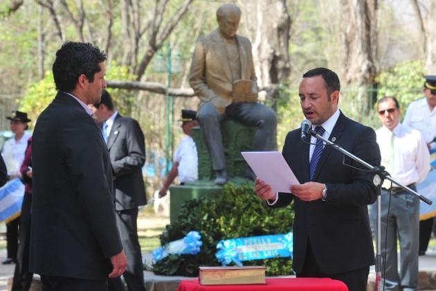 Gobernador de la provincia de San Luis, Claudio Poggi y Ministro de Educación, Marcelo Sosa