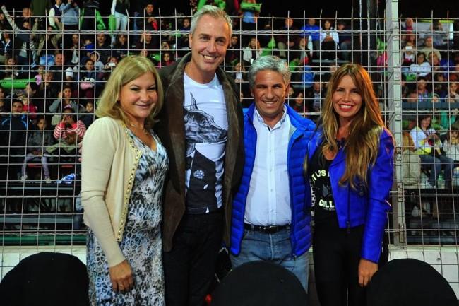 Gobernador, Claudio Poggi, Sandra Correa, Marley y Florencia Peña