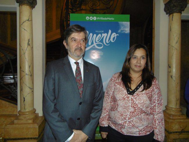 Intendente Miguel Ángel Flores y Secretaria de Turismo, Lucía Miranda